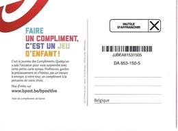 """Carte Publicité De La Poste -  """"compliments"""" - Inutile D'affranchir - Documents De La Poste"""