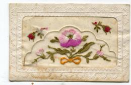CPA Fantaisie Brodée : Fleurs     VOIR DESCRIPTIF  §§§§§ - Embroidered