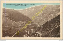 01.  CERDON .  Gorges Du Cerdon Et Route Nationale 84 . - Sonstige Gemeinden