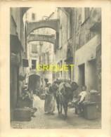 Italie, San Remo, Grande Photo D'une Rue Animée, âne Chargé...., N° 2, Photo Ballance à Menton - San Remo