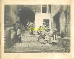 Italie, San Remo, Grande Photo D'une Rue Animée, âne Chargé...., N° 1, Photo Ballance à Menton - San Remo