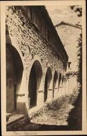Cp San Marino, La Fortezza, Straßenpartie, Chiosco Nel Convento Dei Frati - Saint-Marin