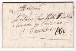 Lettre 1747 Nancy Lorraine Meurthe Et Moselle Beaune Côte D'Or Antoine Dechard - Marcophilie (Lettres)