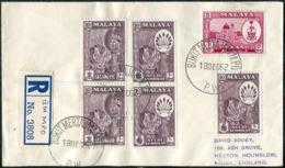 Malaya 1962 Mobile Post Office BUKIT MERTAJAM MPO / P.W. Pmk Reg. Cover Ambulant Bus TPO Automobil-Postbureau Kraftpost - Federation Of Malaya