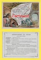 ♦♦☺ Chromo - Département Du DOUBS - BESANCON - BAUME - MONTBELIARD ֎ Ecusson - Carte Géographique - Non Classificati