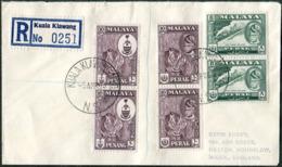 Malaya 1963 Mobile Post Office KUALA KLAWANG MPO / N.S. Pmk Reg. Cover Ambulant Bus TPO Automobil-Postbureau Kraftpost - Federation Of Malaya