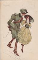Cartolina - Postcard /  Viaggiata - Sent /  Donnina Con Militare - Women