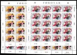 1985 FAROER Faroe EUROPA CEPT EUROPE 40 Serie Di 2v. MNH** In 4 Minifogli 4 Minisheets - Europa-CEPT