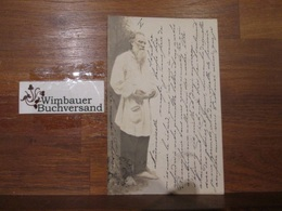 Russischer Dichter. Photopostkarte Signiert Le Comte Tolstoi - Autógrafos