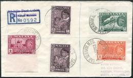 Malaya 1963 Mobile Post Office SABAK BERNAM MPO SELANGOR Pmk Reg. Cover Ambulant Bus TPO Automobil-Postbureau Kraftpost - Federation Of Malaya