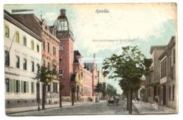 Apolda - Bahnhofstrasse Mit Reichspost - Early Germany Postcard - Apolda