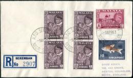Malaya 1963 Mobile Post Office SEREMBAN MPO NEGRI SEMBILAN Pmk Reg Cover Ambulant Bus TPO Automobil-Postbureau Kraftpost - Federation Of Malaya