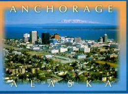 CPM - ETATS UNIS - ALASKA - ANCHORAGE - AERIAL VIEW WITH MT SUSITNA IN THE BACKGROUND - Etats-Unis