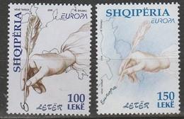 Albanie Europa 2008 N° 2944/ 2945 ** Ecriture Lettre - 2008