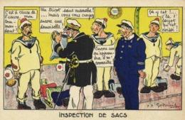 Militaria J P Godrin INSPECTION SE SACS RV  GARDE A VOUS - Humorísticas