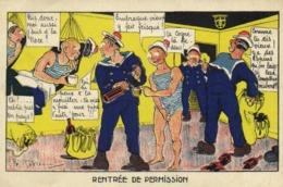 Militaria J P Godrin RENTREE DE PERMISSION RV  GARDE A VOUS - Humorísticas