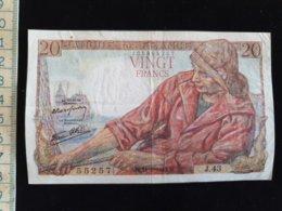 """Billet 20 Francs """"Pecheur""""  -1942 N - 1871-1952 Antichi Franchi Circolanti Nel XX Secolo"""