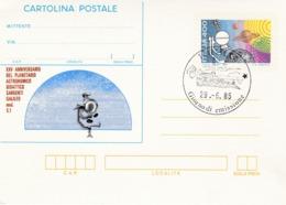 Italy CP 62 1985 Planetario Didattico, Cartolina Postale,FDC - 6. 1946-.. Republic