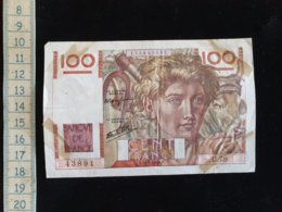 """Billet 100 Francs """"paysan""""  -1946 F - 1871-1952 Antichi Franchi Circolanti Nel XX Secolo"""
