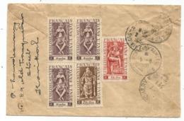 INDE FRANCAIS AU VERSO LETTRE COVER REG FM AVION POSTE AUX ARMEES BPM 406 1951 + 405  SUD VIETNAM RARE - Postmark Collection (Covers)