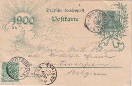 ALLEMAGNE 1900     ENTIER POSTAL/GANZSACHE/POSTAL STATIONERY CARTE DE BINGERBRUCK - Stamped Stationery