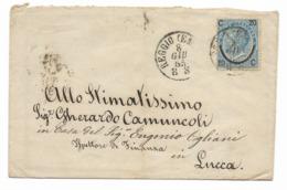 DA REGGIO EMILIA A LUCCA - 8.1.1865. - Modena