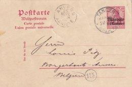 MAROC 1906     ENTIER POSTAL/GANZSACHE/POSTAL STATIONERY CARTE DE TANGER - Deutsche Post In Marokko