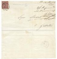 DA REGGIO EMILIA A GATTALINO - 15.5.1866. - Modena