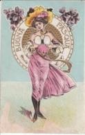 Cartolina - Postcard / Non  Viaggiata - Unsent /  Donnina. A Rilievo - Buona Pasqua - Donne