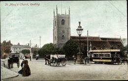 Cp Reading South East England, St. Marys Church, Straßenbahn - Altri