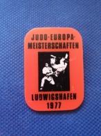 Pin Badge Judo European Championship Ludwigshafen 1977 - Judo