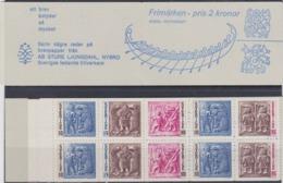 ARCHAEOLOGY VIKINGS WEAPON IRON AGE Booklet Blue SWEDEN 1967 ** Slania Swedish Text MI 580 - 583 Slania ARCHEOLOGIE ARME - Archeologia