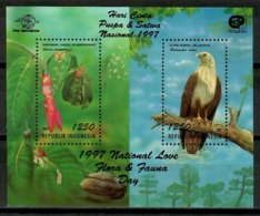 Indonesia 1997 / Birds Flowers MNH Aves Flores Vögel Blumen Oiseaux Fleurs Uccelli / Cu14736  18-30 - Vögel