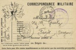 Corrspondance Militaire Parc D'Aviation N°4  Sect 12 Tresor Et Postes 12  Cachet Service AéronautiqueVers Fayet Aveyron - Militari