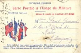 Carte Postale à L'Usage Du Militaire Adress à Remplir Par Le Militaire LUI MEME Vers Rodez Aveyron RV - Militari