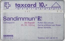 SUISSE - PHONE CARD - TAXCARD-PRIVÉE ***  SANDOZ & PHARMA *** - Schweiz