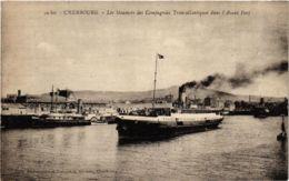CPA Les Steamers Des Compagnies Transatlantiques - Cherbourg SHIPS (911383) - Paquebots