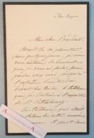 L.A.S Albert Pierre DAWANT Peintre - Grand Duc Nicolas Exposition Saint Petersbourg - Expo Universelle Lettre Autographe - Autographes
