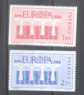 Sweden 1984; Europa Cept, Michel 1270-1271, Used. - Europa-CEPT
