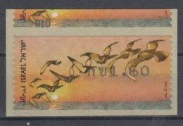 ISRAEL 2010 KLUSSENDORF ATM BIRD OF PASSAGE ERROR 1.6 SHEKELS - Ongetande, Proeven & Plaatfouten