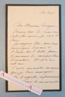 L.A.S Albert Pierre DAWANT Peintre - Corroyer - Concours De Composition Décorative - St Michel Dragon Lettre Autographe - Autographes