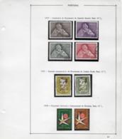 TIMBRES - STAMPS-  SELLOS - FRANCOBOLLI - PORTUGAL - 1957 ET 1958 -  3 SÉRIES DE TIMBRES OBLITÉRÉS - Oblitérés