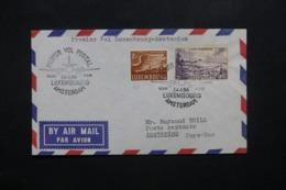 LUXEMBOURG - Enveloppe 1er Vol Luxembourg / Amsterdam En 1956, Affranchissement Plaisant  - L 42487 - Lussemburgo