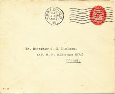 Denmark Postal Stationery Cover 15 öre M - 46 Copenhagen 15-2-1932 (Nice Cover) - Postal Stationery