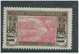 Cote D'Ivoire N° 61  X Timbres Type Lagune Ebrié Surchargés : 85 C. Sur 75 C.trace De  Charnière Sinon TB - Nuovi