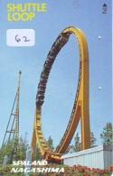 Télécarte - Parc D'attractions - Montagne Russe - ROLLER COASTER (62)– ACHTBAAN Pretpark - ACHTERBAHN Vergnügungspark - Jeux