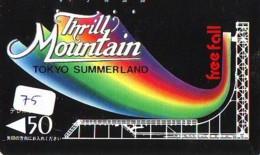 Télécarte - Parc D'attractions - Montagne Russe - ROLLER COASTER (75)– ACHTBAAN Pretpark - ACHTERBAHN Vergnügungspark - Jeux