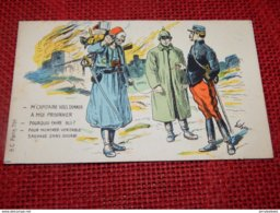 MILITARIA HUMORISTIQUE  -  GUERRE 1914-18  -  Prisonnier Allemand à Un Zouave ... Illustrateur Signé - Oorlog 1914-18
