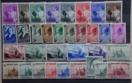 BELGIE  1937-38  Samenstelling   Nr. 447-54 / 456-57 /  458-65 / 466-70  ... Zie Verder      Scharnier *      CW  59,00 - Belgique