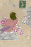 Oiseaux..........carte En Relief....avec Plumes - Fancy Cards